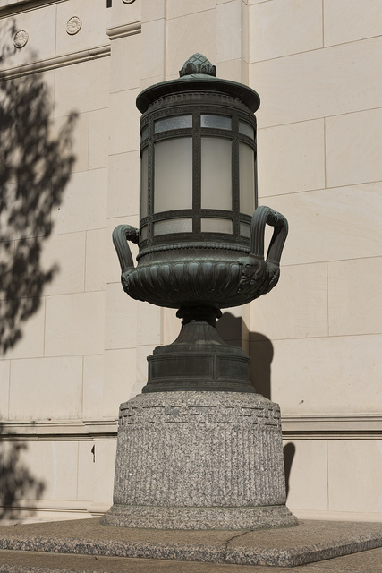 Exterior lamp. U.S. Post Office and Courthouse, Tyler, Texas