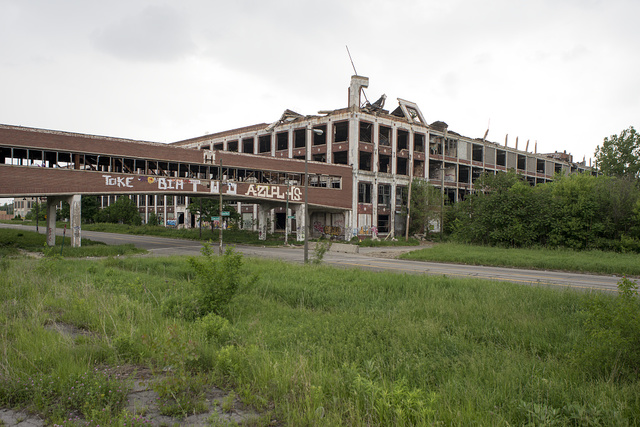 Former Packard Plant, E. Grand Blvd. at Concord, Detroit, 2014