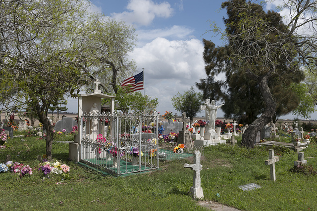 Garcia Cemetery, a small, country cemetery near the little settlement of Los Indios in eastern Cameron County, near the Rio Grande River border with Mexico