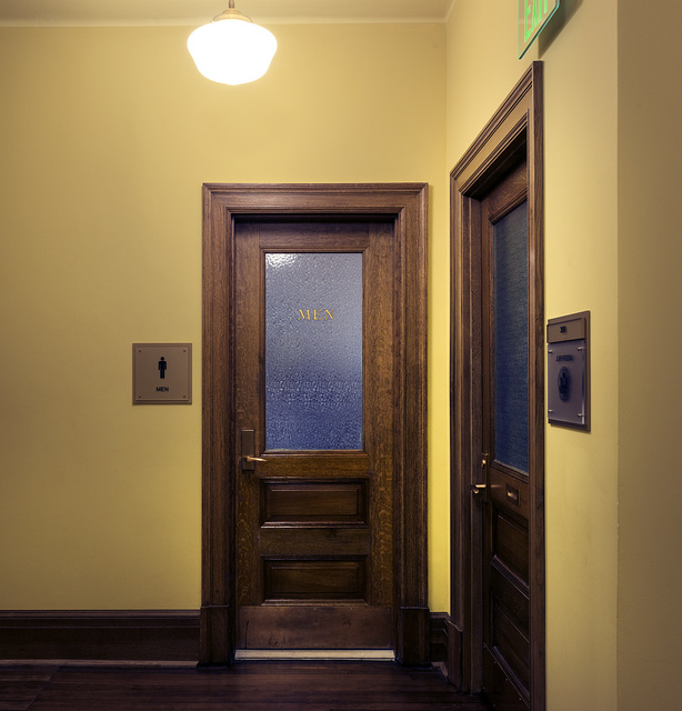 Historic doors. Wayne N. Aspinall Federal Building and U.S. Courthouse, Grand Junction, Colorado