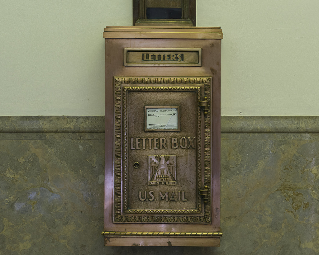 Interior Mailbox. U.S. Courthouse, El Paso, Texas