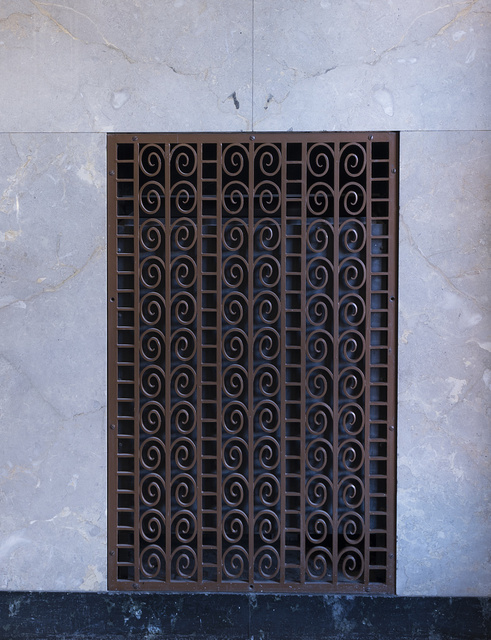 Interior metal grate. U.S. Courthouse, El Paso, Texas