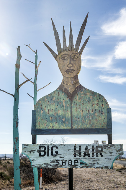 "It may not be a surprise to learn that the owner of Marathon, Texas's, ""Big Hair"" beauty shop is the sister of the owner of an art gallery in town"