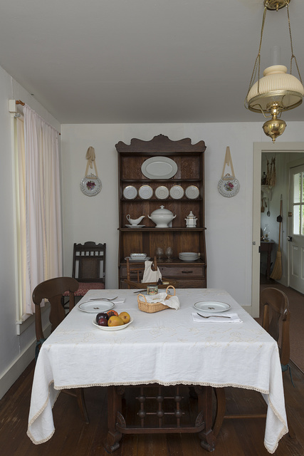 Kitchen table at the birth home of former U.S. General and President Dwight D. Eisenhower in Denison, Texas