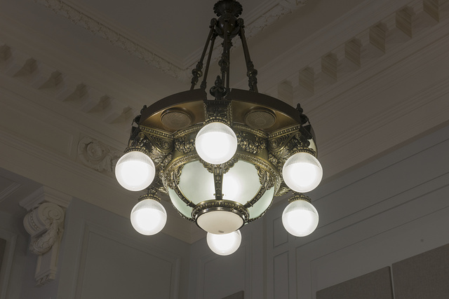 Light fixture, Federal Building and U.S. Courthouse, Eau Claire, Wisconsin