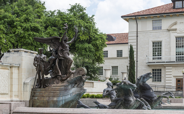 Littlefield Fountain, a monument by Italian-born sculptor Pompeo Coppini located on the main campus of The University of Texas at Austin in Austin, Texas