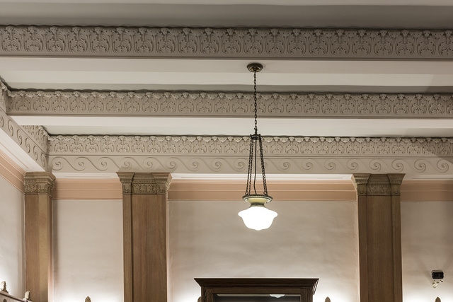 Lobby ceiling. U.S. Post Office and Courthouse, Tyler, Texas