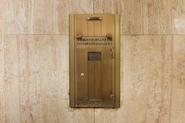 Mail box, Appraisers Building, San Francisco, California