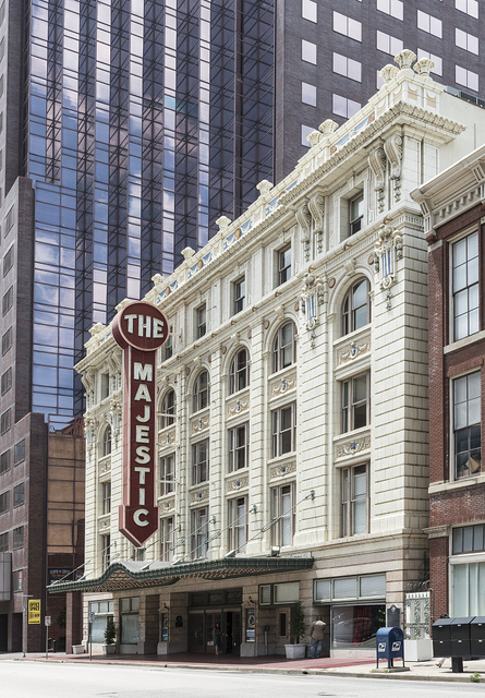 Marquee of, and entrance to, the Majestic Theatre in Dallas, Texas