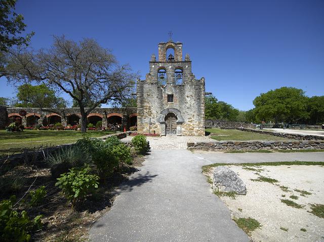 """Mission San Francisco de la Espada, better known today simply as """"Mission Espada,"""" in San Antonio, Texas"""