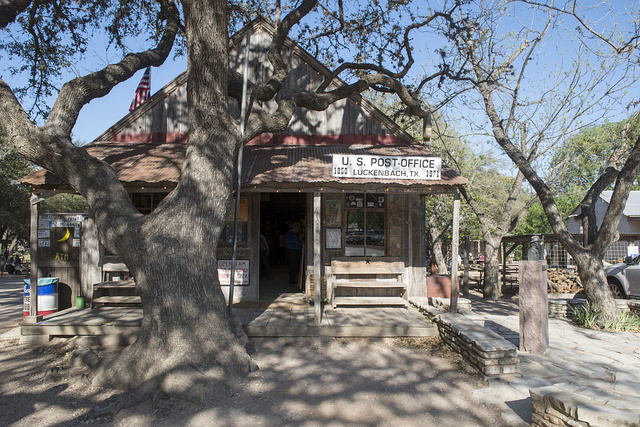Old Post Office, Luckenbach, Texas, a dot of a place in Gillespie County, Texas