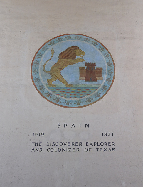 One of several medallions at Fair Park, depicting nations that have ruled all or much of the territory of Texas
