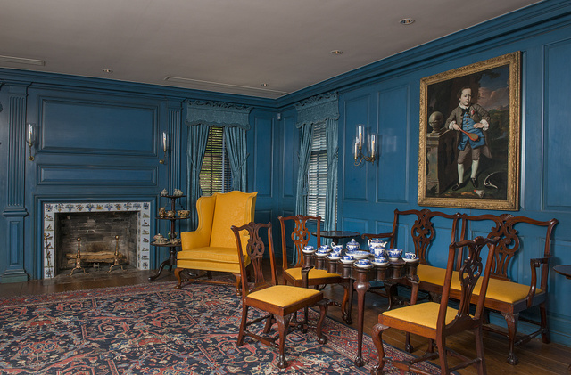 One of several parlors in the Bayou Bend house museum, the Museum of Fine Arts, Houston's, museum for American decorative arts and paintings
