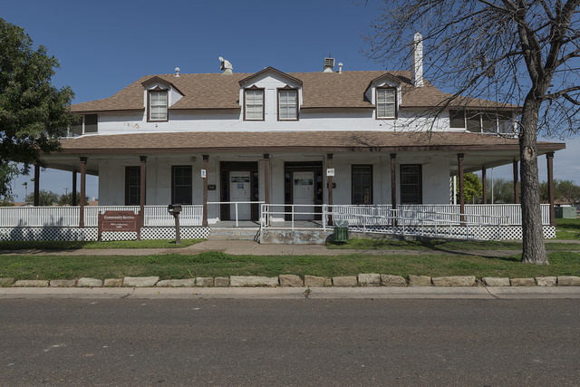 One of the surviving buildings from Fort McIntosh, which existed for nearly a century, beginning in 1849, in Laredo, Texas