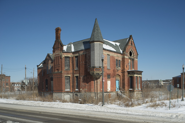 Ransom Gillis Mansion, Alfred at John R Streets, Detroit, 2014