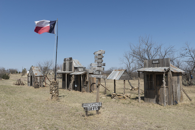 Remnants of enlisted men's cabins at Fort Griffin, a state historic site in Shackelford County, Texas