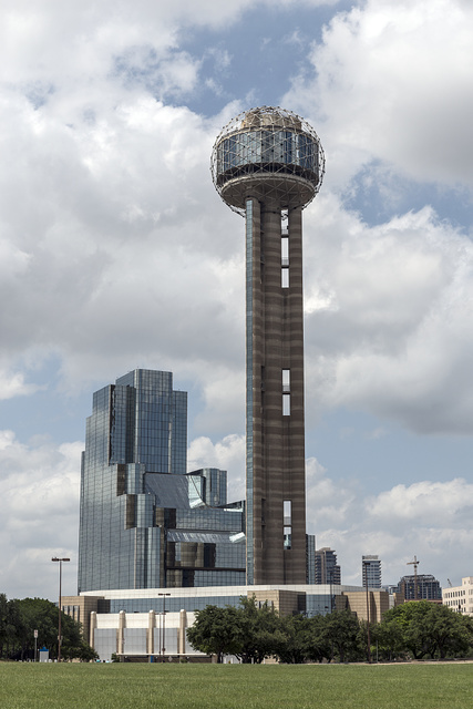 Reunion Tower, a 561-foot-high observation tower, completed in 1978, that is one of the most recognizable landmarks in Dallas, Texas