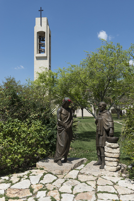 Sculpture at the Basilica of Our Lady of San Juan del Valle, a Catholic shrine that draws thousands of pilgrims each week to San Juan, Texas, near McAllen