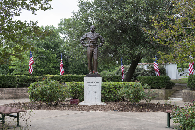 Statue of Dwight D. Eisenhower at the Denison, Texas, birthplace of the former U.S. General and President, a Texas State Historic Site