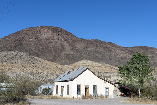 The community church in tiny Shafter, an unincorporated community in Presidio County, Texas, near the Rio Grande River