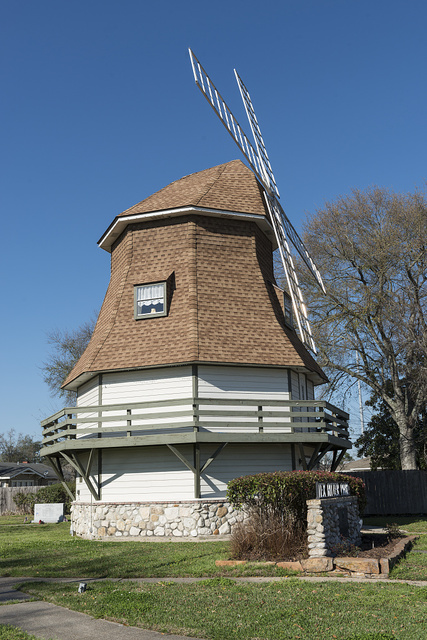 The Dutch Windmill Museum, a tribute to the heritage of Nederland, Texas, which was settled by immigrants from Holland in 1898