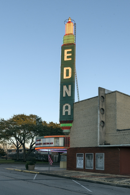 The Edna movie theater the town of the same name in Jackson County in southeastern Texas
