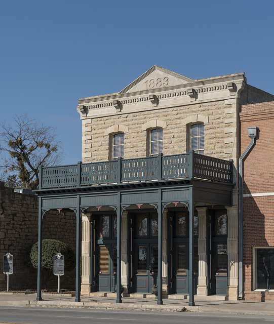 The Hartfield Building in Albany, Texas, seat of Shackelford County