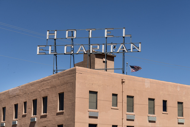 The historic Hotel El Capitan in Van Horn, the seat of Culberson County, Texas