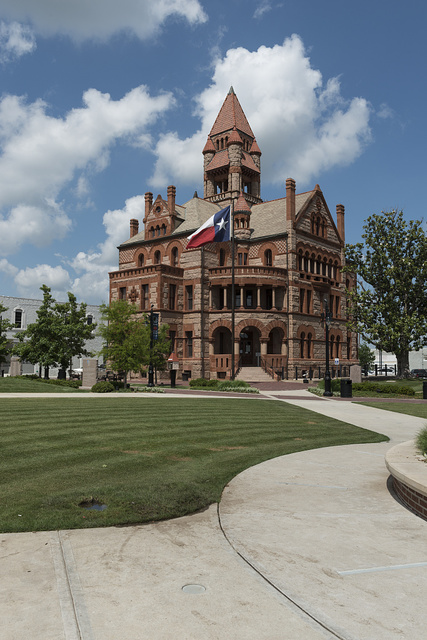 The Hopkins County Courthouse in Sulphur Springs in northeast Texas