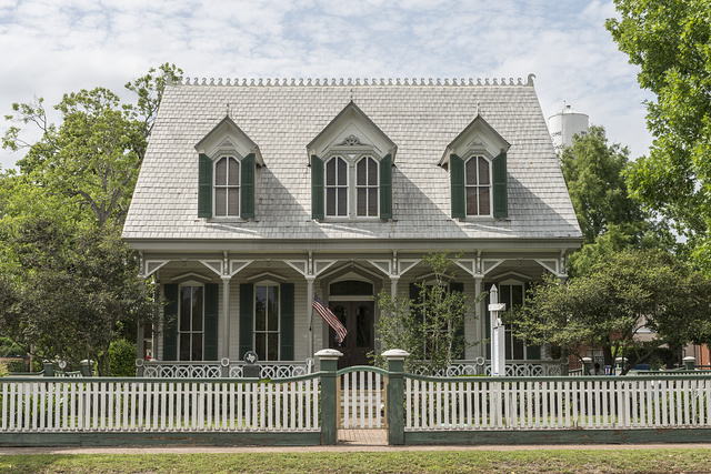 The Isaac McFarlane House, home of merchant, judge, cotton broker, and former Texas Ranger in Richmond, Texas, southwest of Houston
