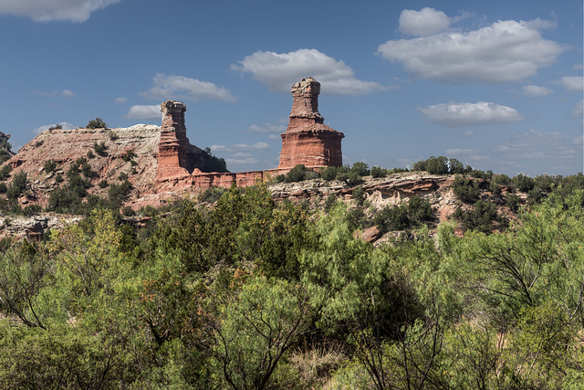 """The """"Lighthouse,"""" the signature formation in Palo Duro Canyon State Park in Armstrong County in the Texas panhandle"""