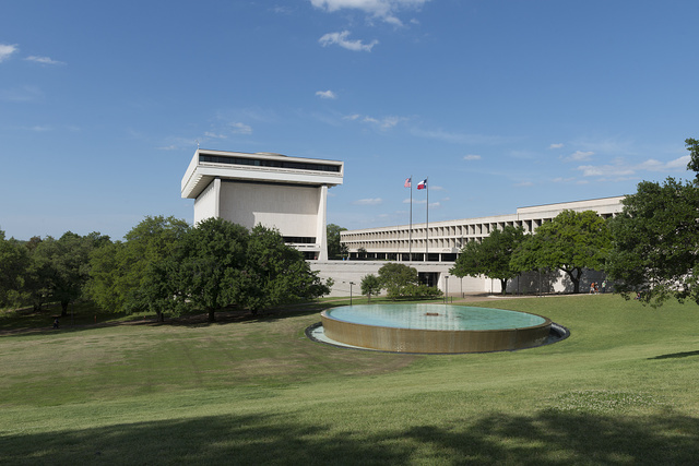 The Lyndon Baines Johnson Library and Museum, also known as the LBJ Presidential Library, in Austin, Texas