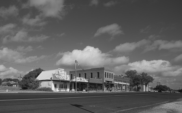 The main street in Crawford, Texas