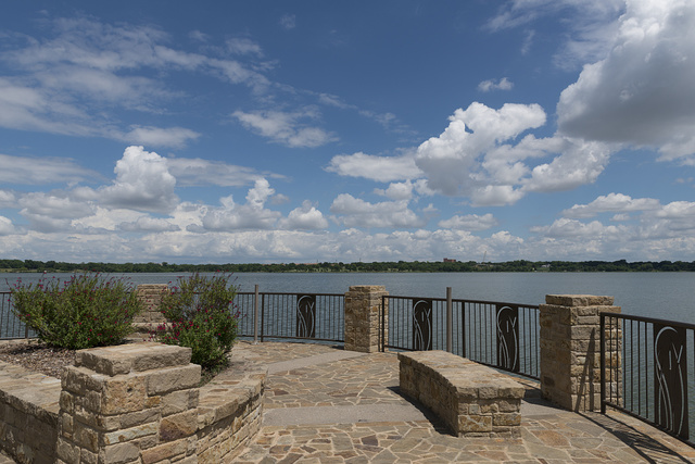 The Maurice Levy Overlook at White Rock Lake, a reservoir located in east Dallas, Texas