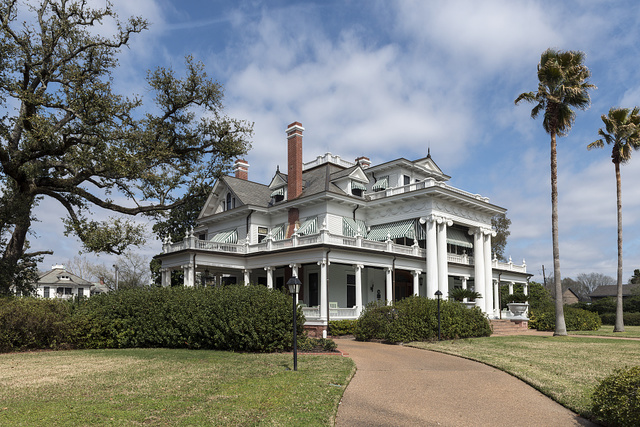 The McFaddin-Ward House in Beaumont, Texas, now a house museum, was built in 1905-1906 in the striking and distinctive Beaux-Arts Colonial style