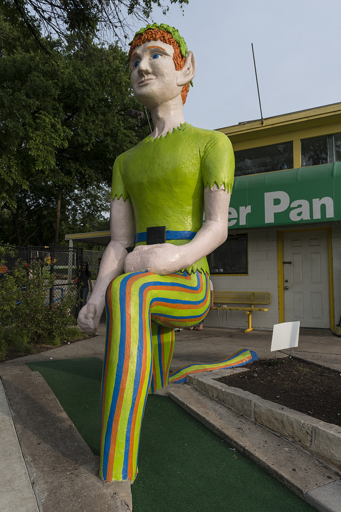 The namesake outsized attraction at the Peter Pan miniature-golf course in Austin, Texas