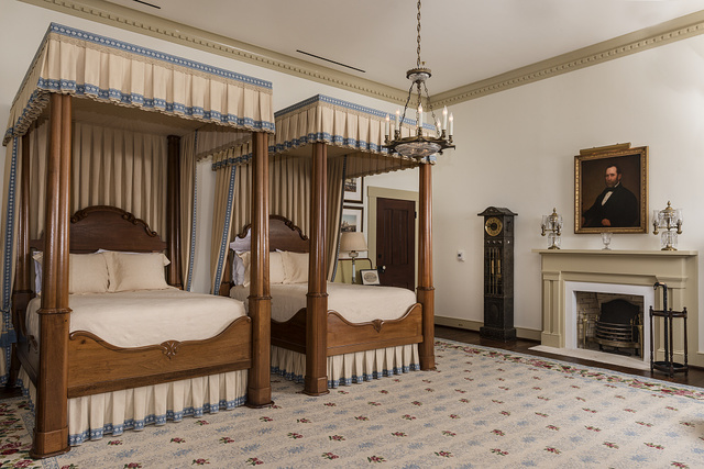The Pease Bedroom on the second floor of the Texas Governor's Mansion in Austin, the capital of Texas
