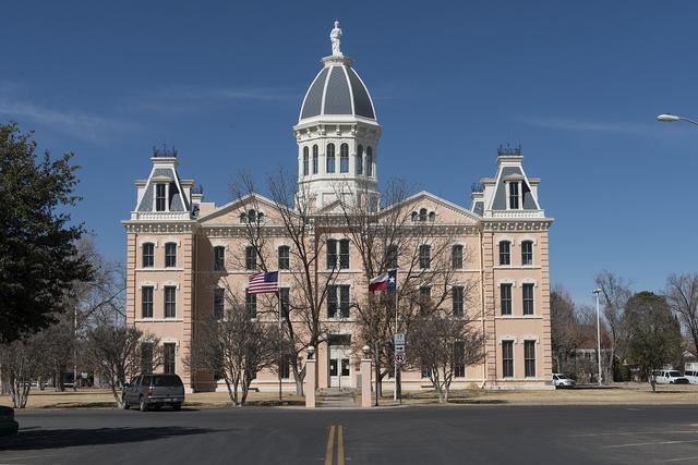 The Presidio County Courthouse in Marfa, Texas