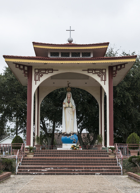 The Queen of Peace Shrine in Port Arthur, Texas. This Hoa-Binh (Area of Peace), features gardens and statue of Mary three times life size was built by parishioners of Queen of Vietnam Martyr's Catholic Church in gratitude for their escape from Asia and the city that welcomed them