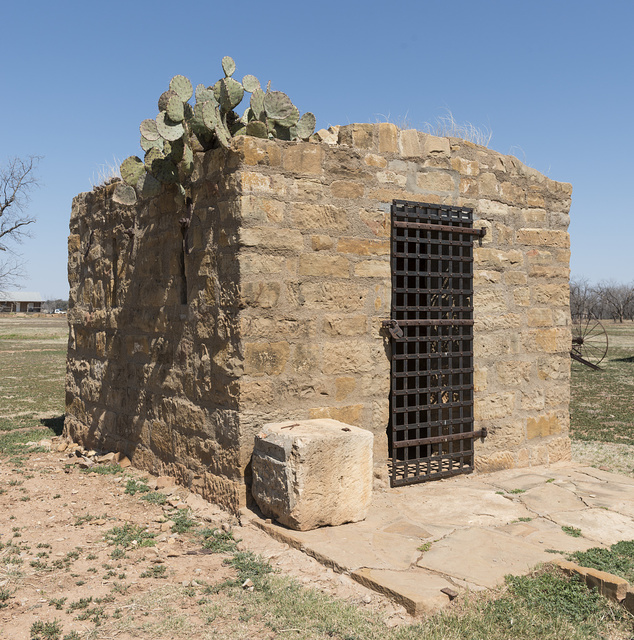 """The restored """"civil jail"""" at the Fort Griffin townsite, near the U.S. Army's frontier post of Fort Griffin in Shackelford County, Texas"""