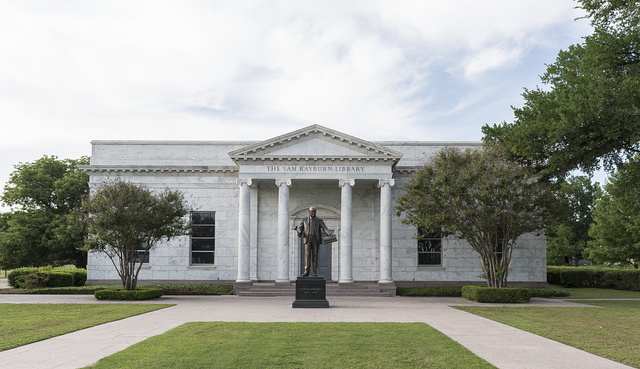 The Sam Rayburn Library and Museum, in Bonham, in Fannin County, Texas