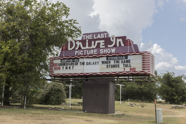 This may be the Last Drive In Picture Show (at least that's its name) in Gatesville, Texas. But it's one of a relative handful of the old drive-in theaters still open for business (as of 2014)