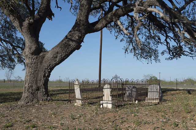 Tiny cemetery outside the settlement of Luckenbach in Gillespie County, Texas