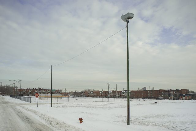 View NE from S. Federal St.. towards W. 45th St., Chicago, 2014