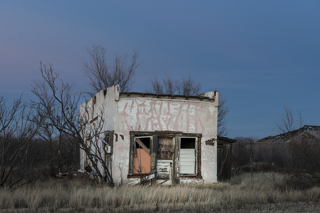 "Whatever this structure in Valentine in Jeff Davis County in far-west Texas once was, someone thought enough of it to mark it ""private property"""