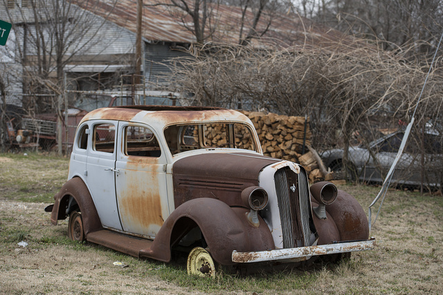 Whoever owns this car hasn't driven it in awhile. Bogota, Texas