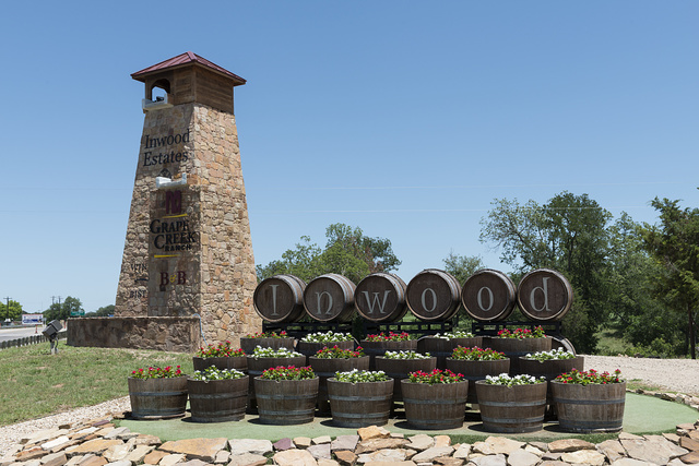 Wine casks at Mendelbaum Cellars Winery in Gillespie County in the Texas Hill Country, between Fredericksburg and Johnson City