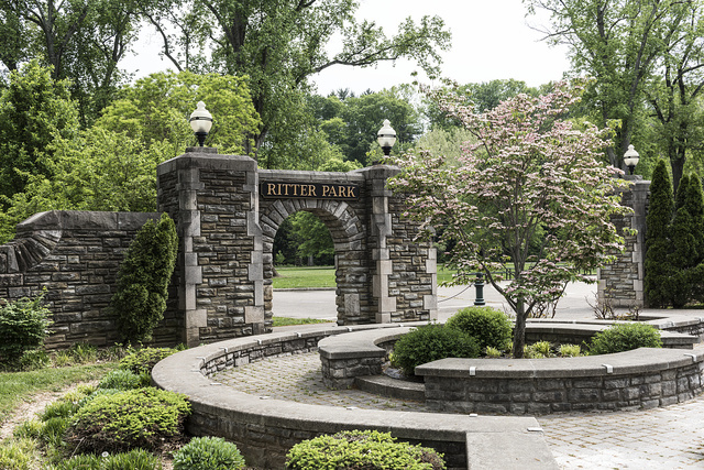 Archway in Huntington, West Virginia's Ritter Park