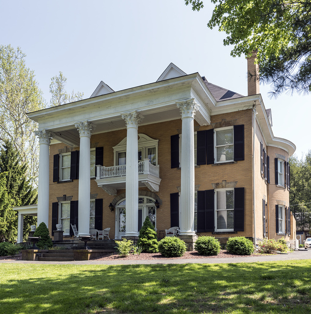 Beallmore, also known as the William T. Jr., and June Booher House for two of its later residents, is a historic mansion in Wellsburg, West Virginia