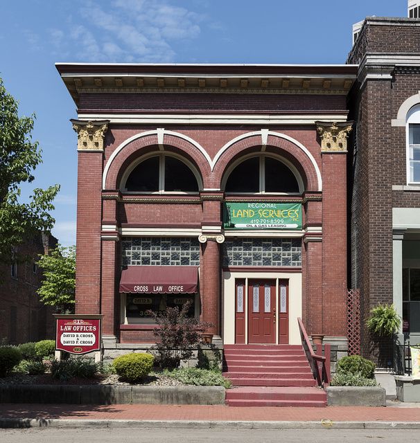 Law and land office building in Wellsburg, West Virginia